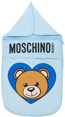 Moschino Kids logo print sleeping bag