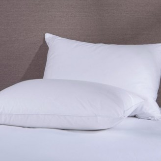 Pure Down Puredown 50% Down and 50% Feather Pillow, White, Set of 2, Standard/Queen Size