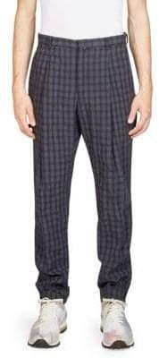 Acne Studios Boston Plaid Linen Pants