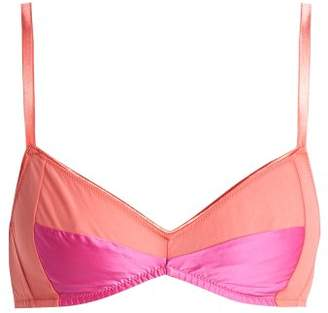 Araks Yanelis Cotton And Silk Bend Bra - Womens - Pink