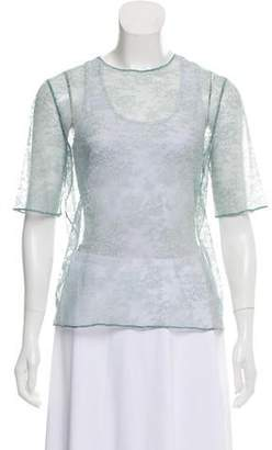 Eres Lace Short Sleeve Top w/ Tags