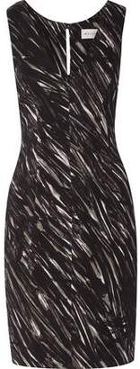 Milly Printed Stretch-Crepe Dress