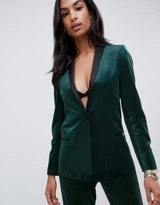Asos DESIGN tux blazer in velvet