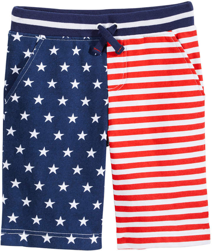 Red, White and Blue Printed Shorts, Toddler Boys, Created for Macy's