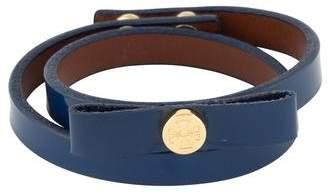 Tory Burch Patent Leather Bow Double Wrap Bracelet