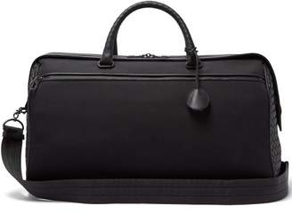 Bottega Veneta Canvas And Leather Holdall - Mens - Black