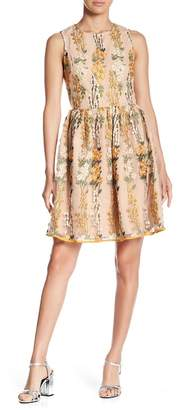 Endless Rose Embroidered Floral Fit & Flare Dress