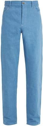 DE BONNE FACTURE Mid-rise slim-leg jeans