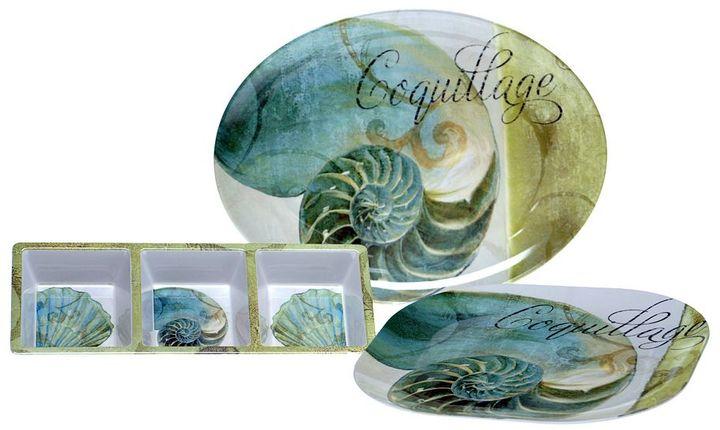 La Mer Certified international by color bakery 3-pc. melamine serving set