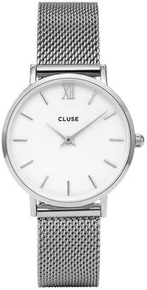 Cluse Minuit silver mesh strap ladies watch