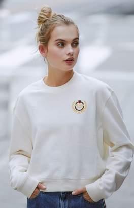 LA Hearts Embroidered Crew Neck Sweatshirt