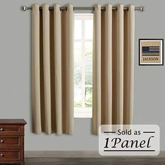Rose Home Fashion RHF Blackout Thermal Insulated Curtain - Antique Bronze Grommet Top for bedroom or living room