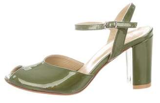 a8419554bce Maryam Nassir Zadeh Patent Leather Ankle Strap Sandals