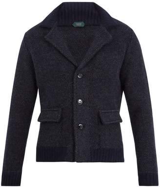 Zanone Notch-lapel wool-blend cardigan
