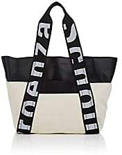 Proenza Schouler Women's Leather-Trimmed Canvas Tote Bag - Black
