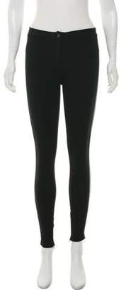 Burberry Skinny-Leg Leather Accented Pants