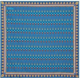 Eton Silk Mosaic Print Pocket Square