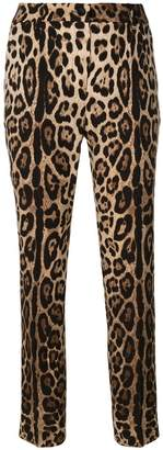 Dolce & Gabbana leopard print tapered trousers