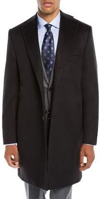 7832cab0877 ... Neiman Marcus Men s Solid Cashmere Top Coat