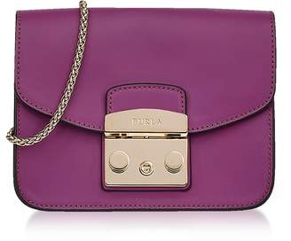 Furla Bouganville Smooth Leather Metropolis Mini Crossbody Bag