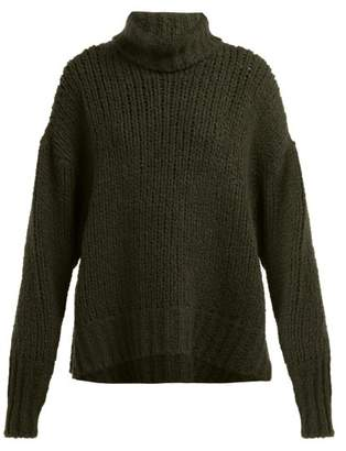 By. Bonnie Young - Boucle Cashmere Blend Sweater - Womens - Green