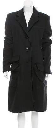 Christian Dior Long Notch-Lapel Coat