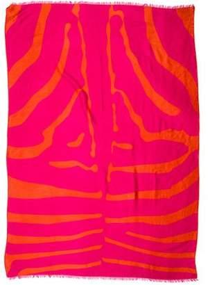 Alicia Adams Alpaca Silk-Blend Patterned Scarf