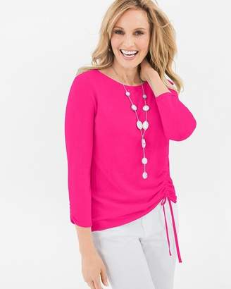 Chico's Chicos Side-Ruched Pullover