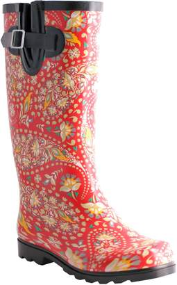 NOMAD Rubber Red & Yellow Paisley Rain Boots -Puddles