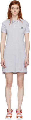 Kenzo Grey Tiger Crest Polo Dress