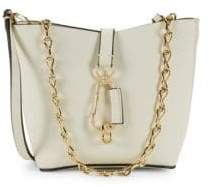 Zac Posen Mini Belay Chain Leather Hobo Bag