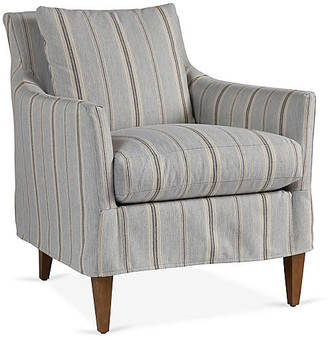 Robin Bruce Ingrid Slipcover Chair - Gray Stripe