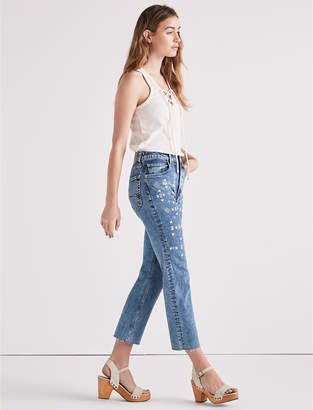 Lucky Brand LUCKY PINS HIGH RISE CROPPED JEAN WITH EMBROIDERY