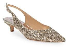 Badgley Mischka Stephanie II Glitter Slingback Pumps