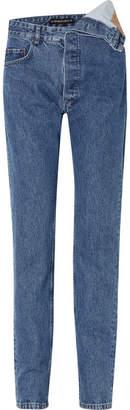Y/Project Asymmetric Boyfriend Jeans - Mid denim