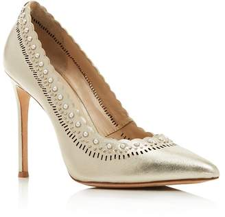 Pour La Victoire Women's Cerella Embellished Pointed Toe Pumps