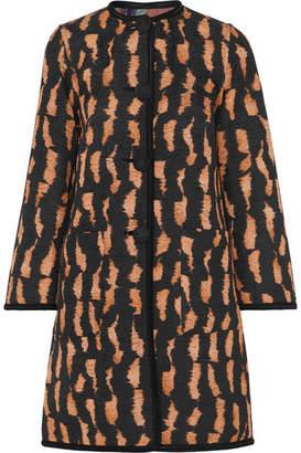 Etro Reversible Cotton-blend Jacquard Coat - Black