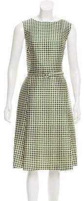 Oscar de la Renta Silk Geometric Midi Dress w/ Tags