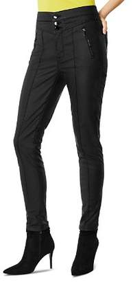 Karen Millen Coated Corset Skinny Jeans in Black