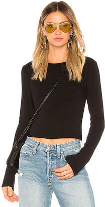 Stateside Ribbed Crew Neck Crop Top