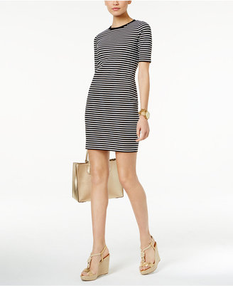 MICHAEL Michael Kors Striped Sheath Dress $125 thestylecure.com
