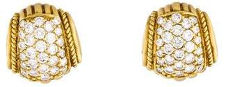 Judith Ripka 18K Diamond Earclip Earrings