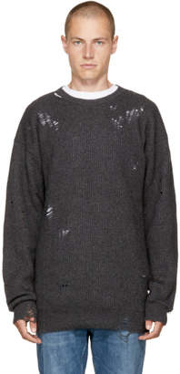 Diesel Grey Distressed K-LOL Sweater