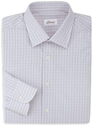 Brioni Men's Checked Dress Shirt