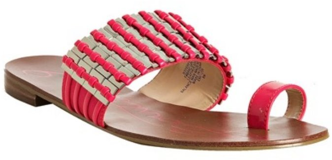 Boutique 9 hot pink woven leather 'Perfect 2' sandals