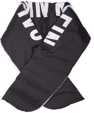 Calvin Klein Logo Print Down Filled Scarf - Womens - Black White