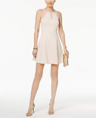 GUESS Illusion Scuba Fit & Flare Dress