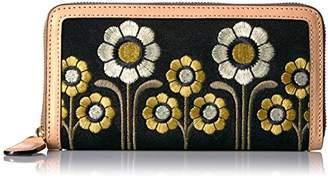 Orla Kiely Suede Embroidery Big Zip Wallet Wallet