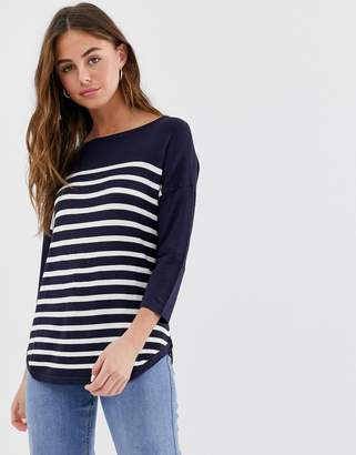 JDY Crush stripe 3/4 sleeve t-shirt