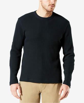 Dockers Men Waffle-Knit Long-Sleeve T-Shirt